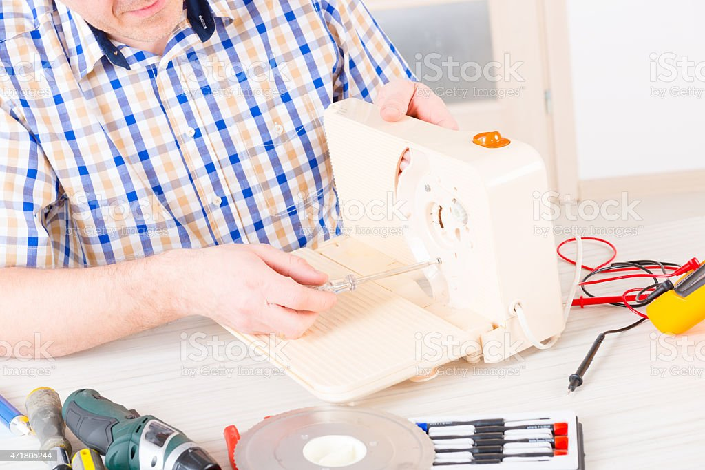 Home appliance service stock photo