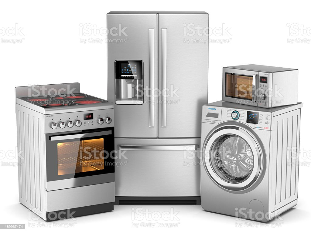Home appliances stock photo