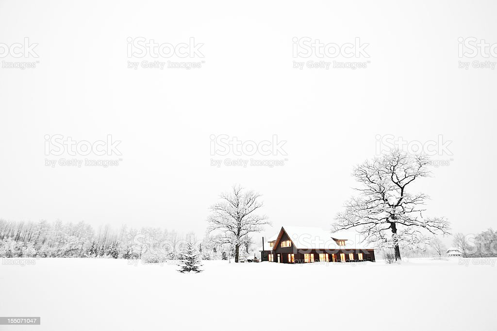 Home at christmas royalty-free stock photo