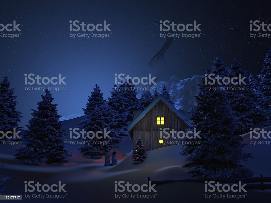 Home at christmas royalty-free stock photo