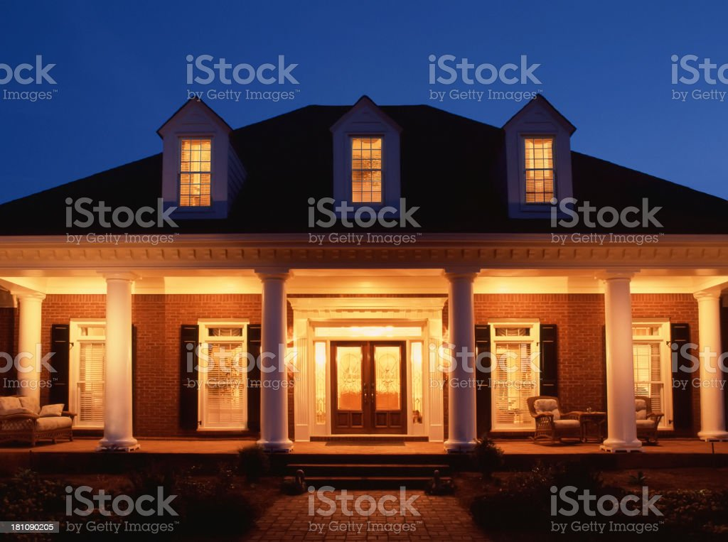 Home at Night stock photo
