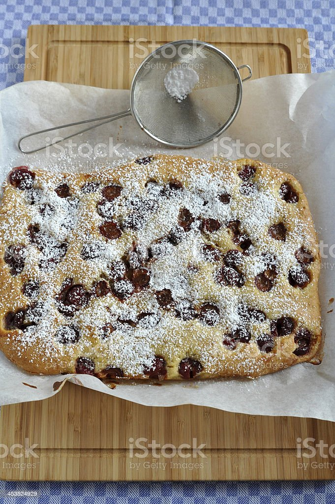 Home baked Cherry Pie royalty-free stock photo