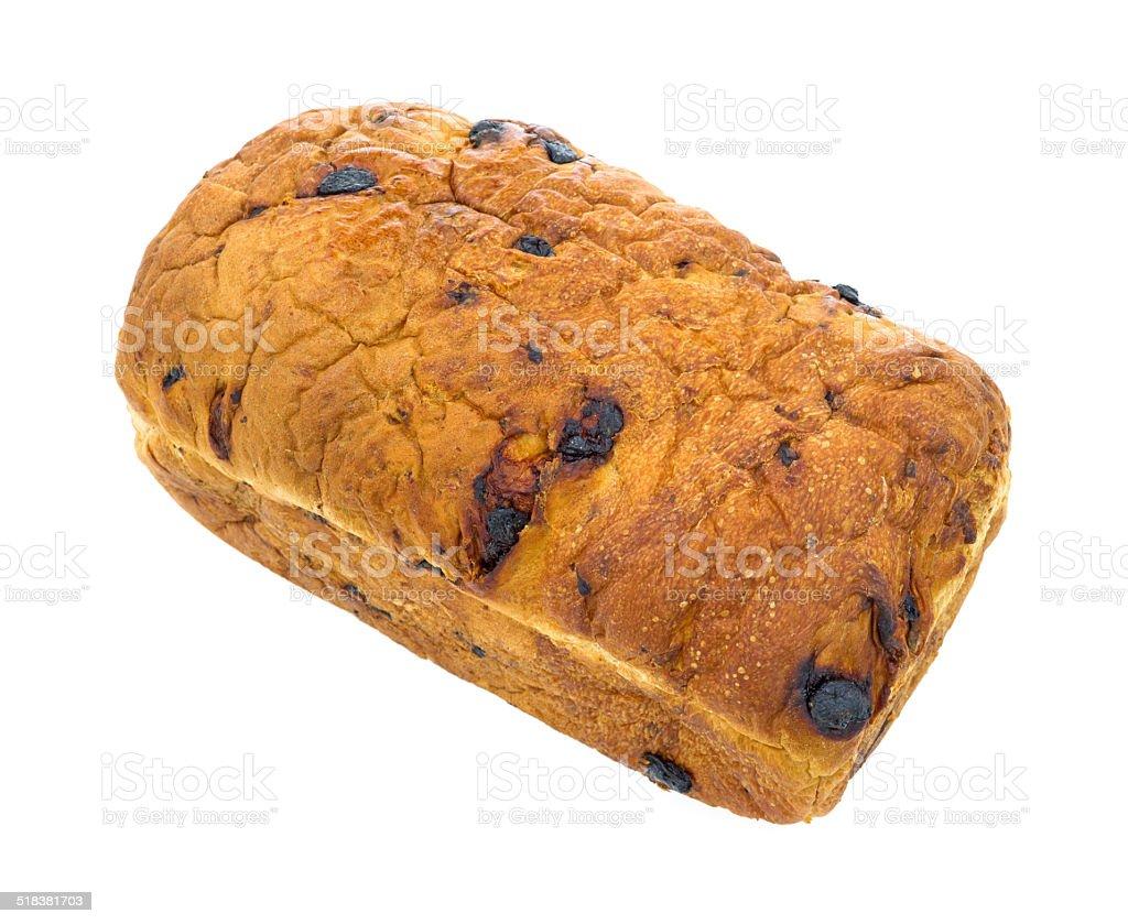Home baked raisin bread stock photo