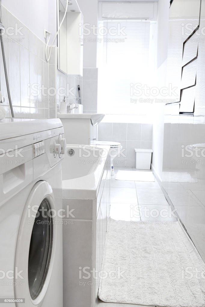 Home bathroom interior stock photo