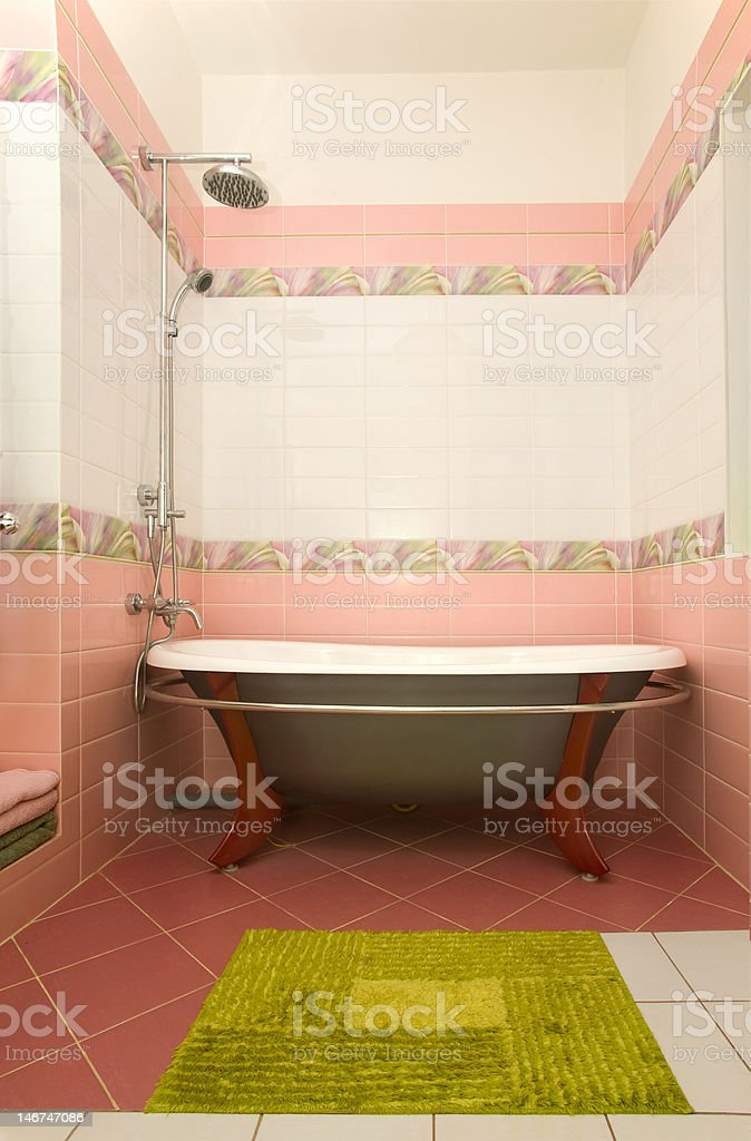 home bathroom stock photo