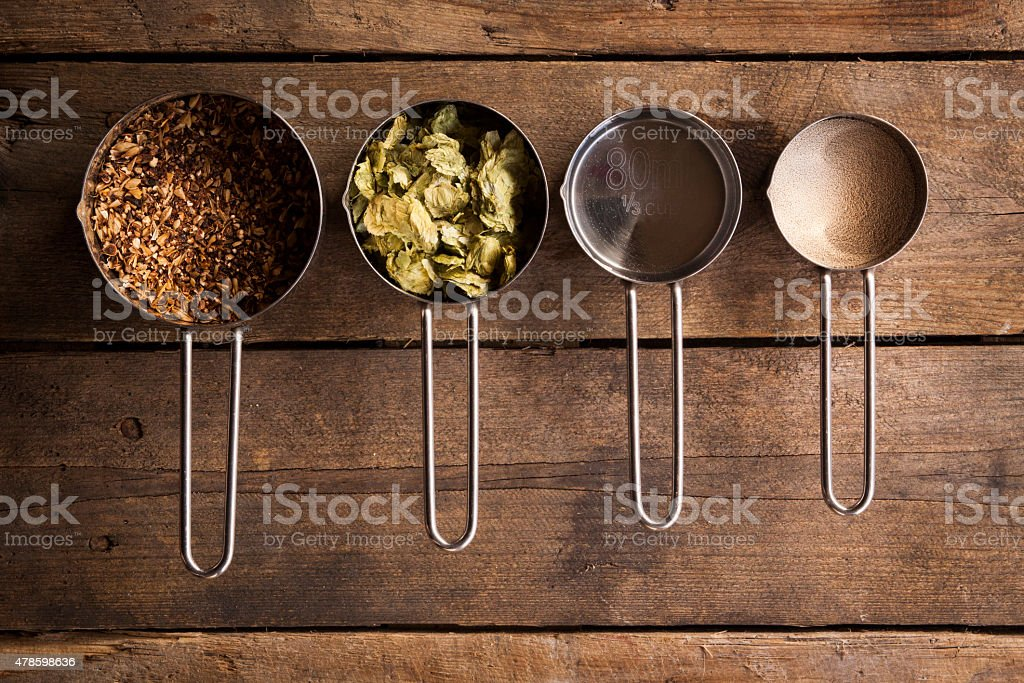 Home Brew Beer Ingredients stock photo