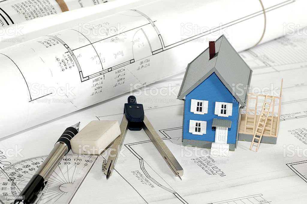 Home Builder 4 royalty-free stock photo