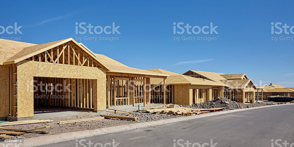 Home Building Industry in progress under construction concept ph stock photo