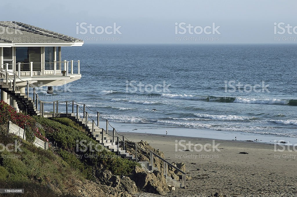 Home by the Sea royalty-free stock photo