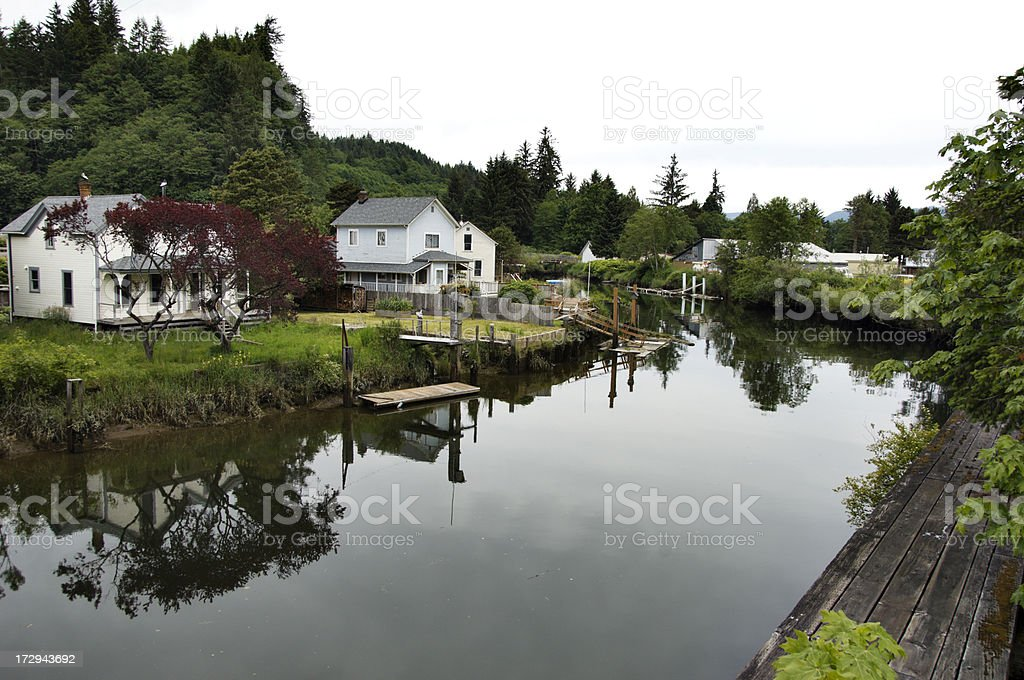 Home by Water stock photo