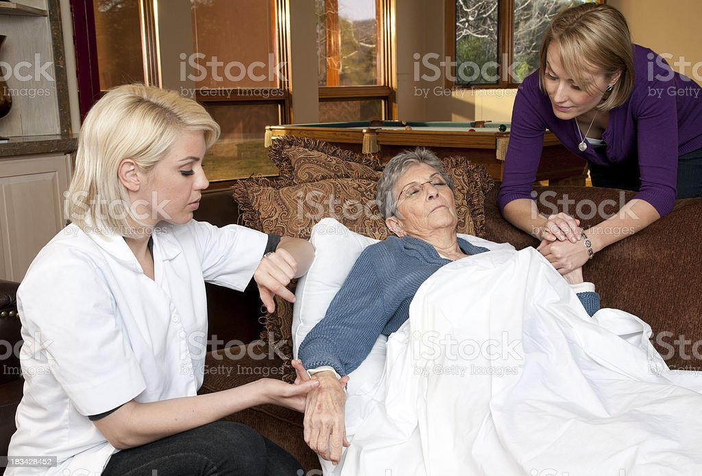 Home care nurse royalty-free stock photo