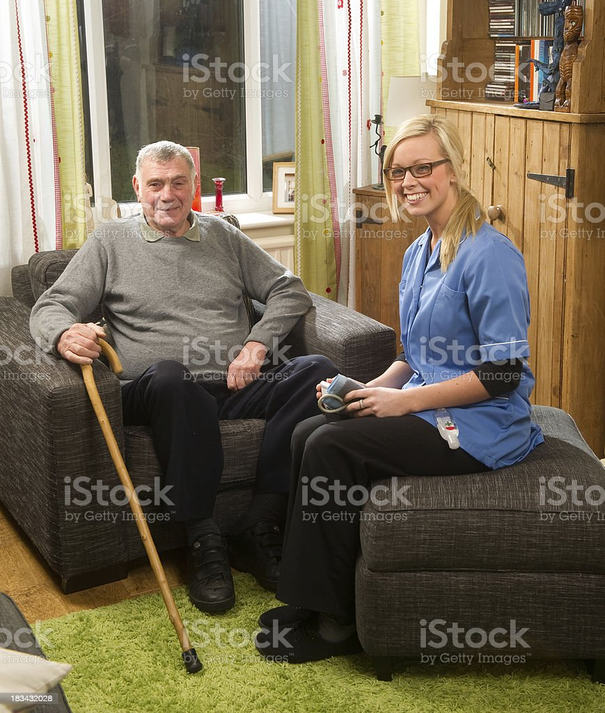 home care visit royalty-free stock photo