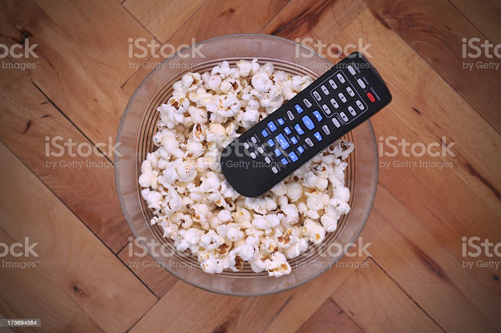 Home Cinema and popcorn royalty-free stock photo