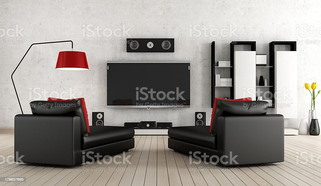 Home cinema stock photo