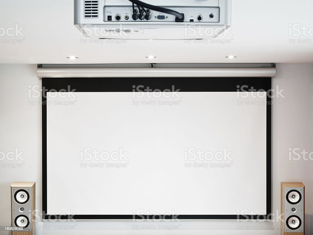 Home cinema system stock photo