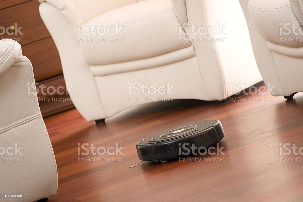 Home cleaning robot royalty-free stock photo