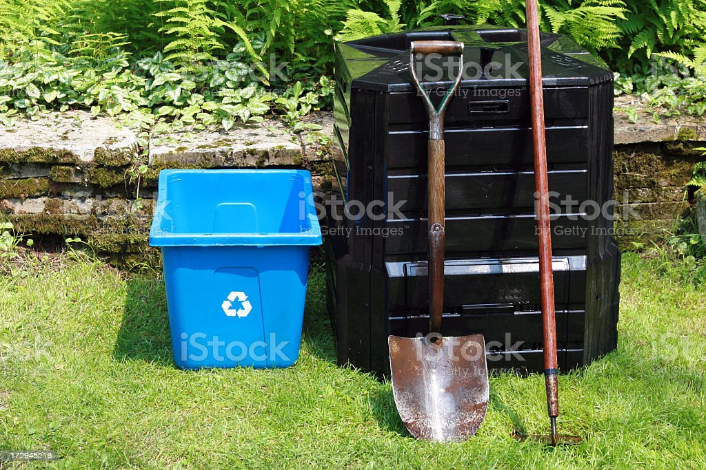 Home composting and recycling royalty-free stock photo