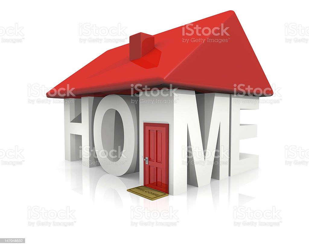 Concepto de casa foto de stock libre de derechos