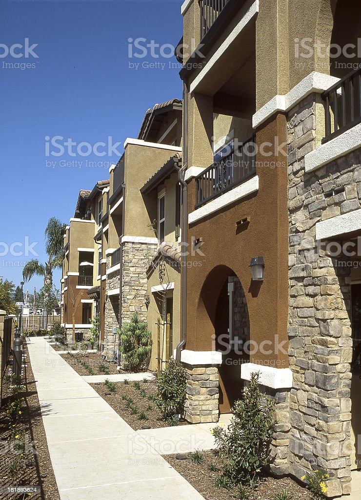 Home Condo Exterior House Design Architecture royalty-free stock photo