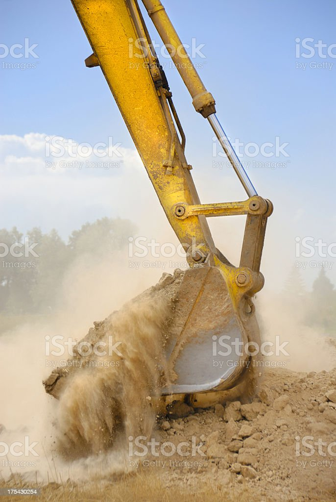 Home Construction Diary - Breaking Ground royalty-free stock photo