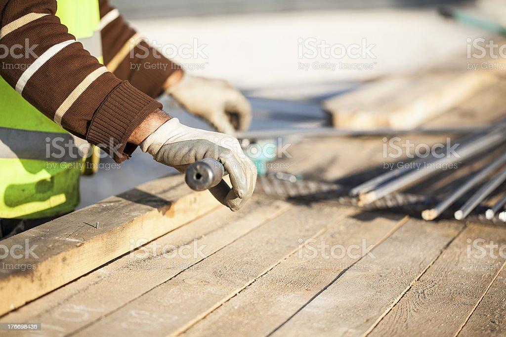 Home Construction Diary royalty-free stock photo