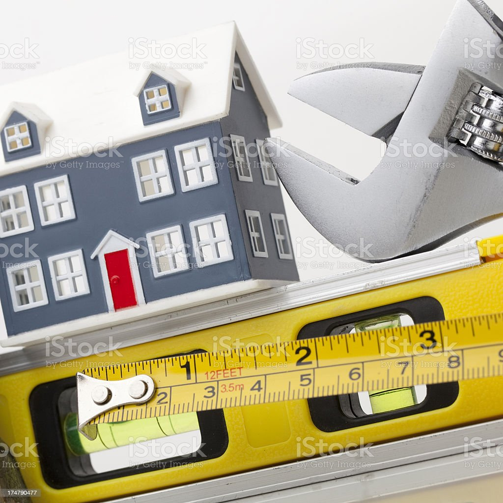 Home construction tools royalty-free stock photo