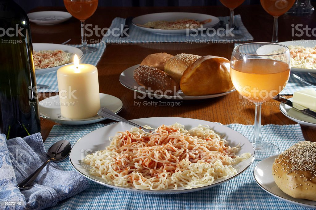 Home Cooked Meal royalty-free stock photo