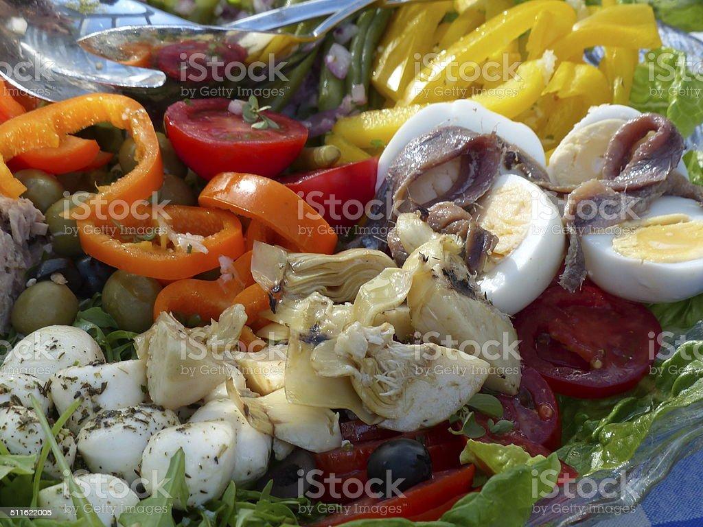 Home cooking. Antipasti - Niçoise salad stock photo
