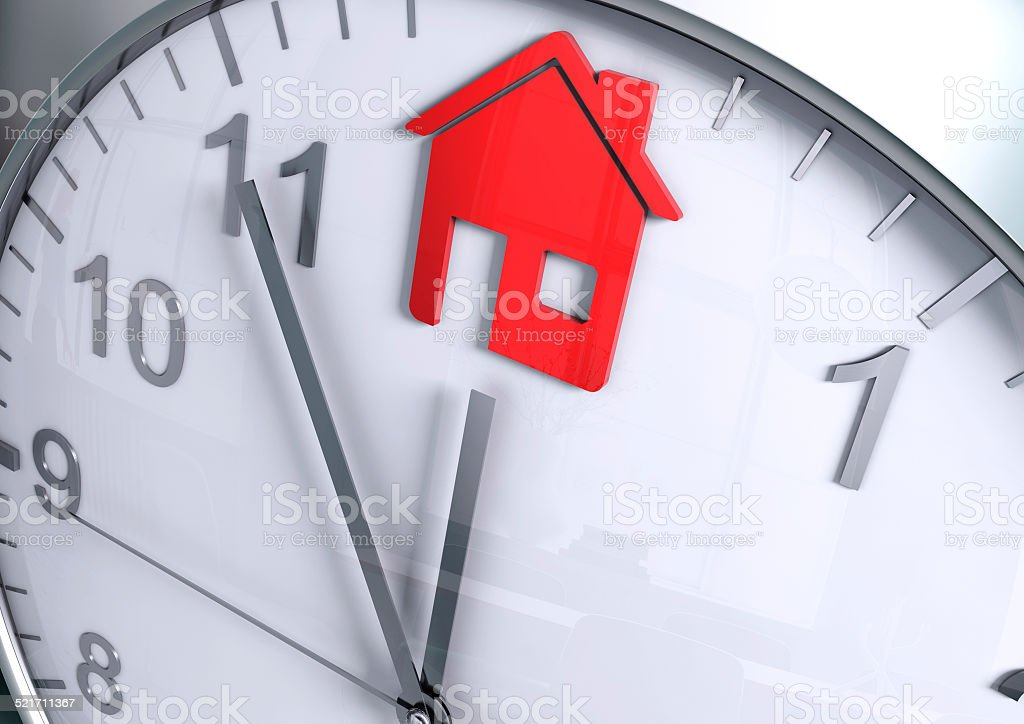 Home countdown stock photo
