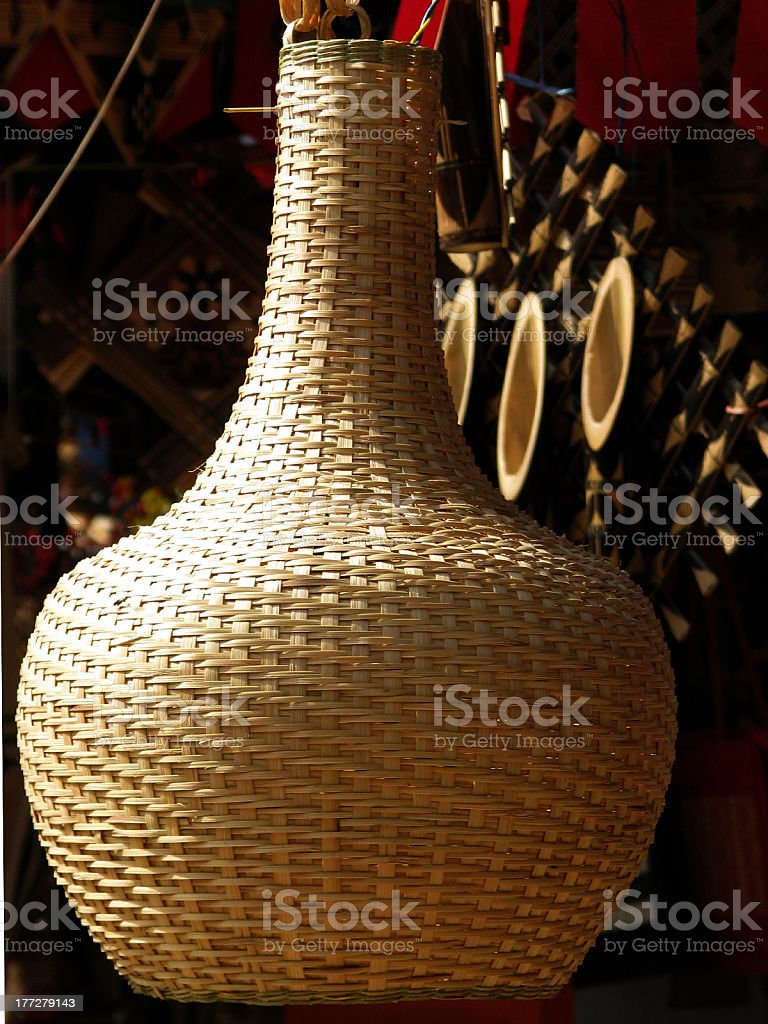Home Decor Bamboo Hanging Lamp stock photo
