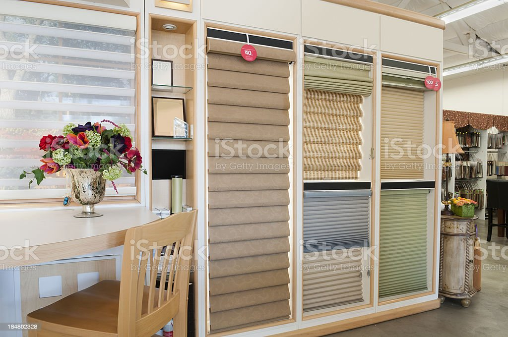 Home Decorating Showroom - Window Blinds royalty-free stock photo