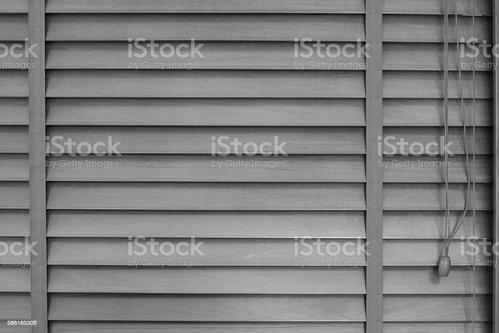 home decoration of Wooden Blinds Background stock photo