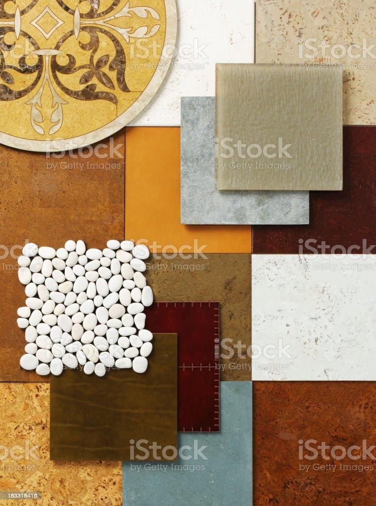Home Decor-Floor Samples C royalty-free stock photo