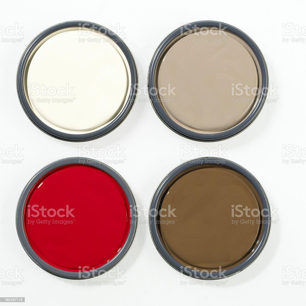 Home Decor-Paint Lids A stock photo