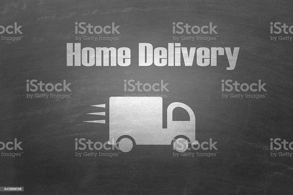 Home delivery truck stock photo