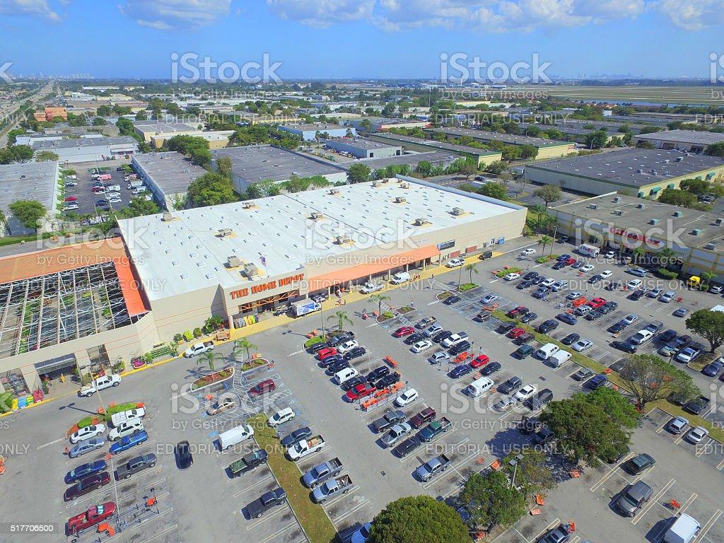 Home Depot Miami Lakes Florida stock photo