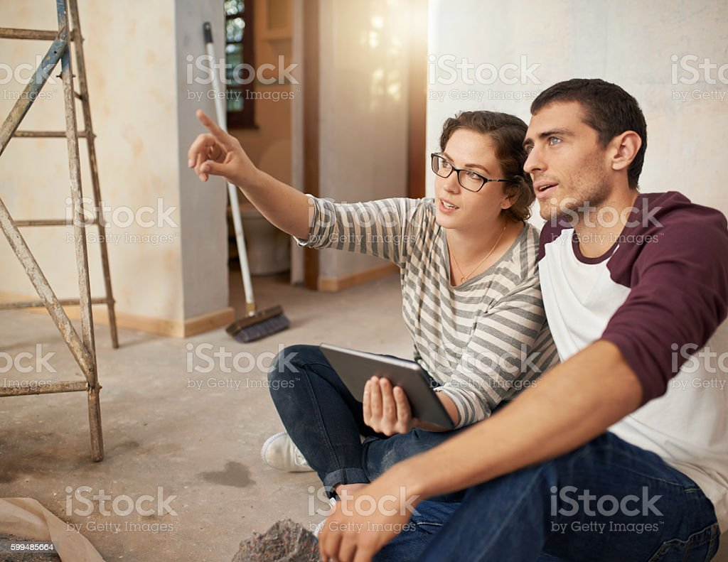 Home design in the digital age stock photo