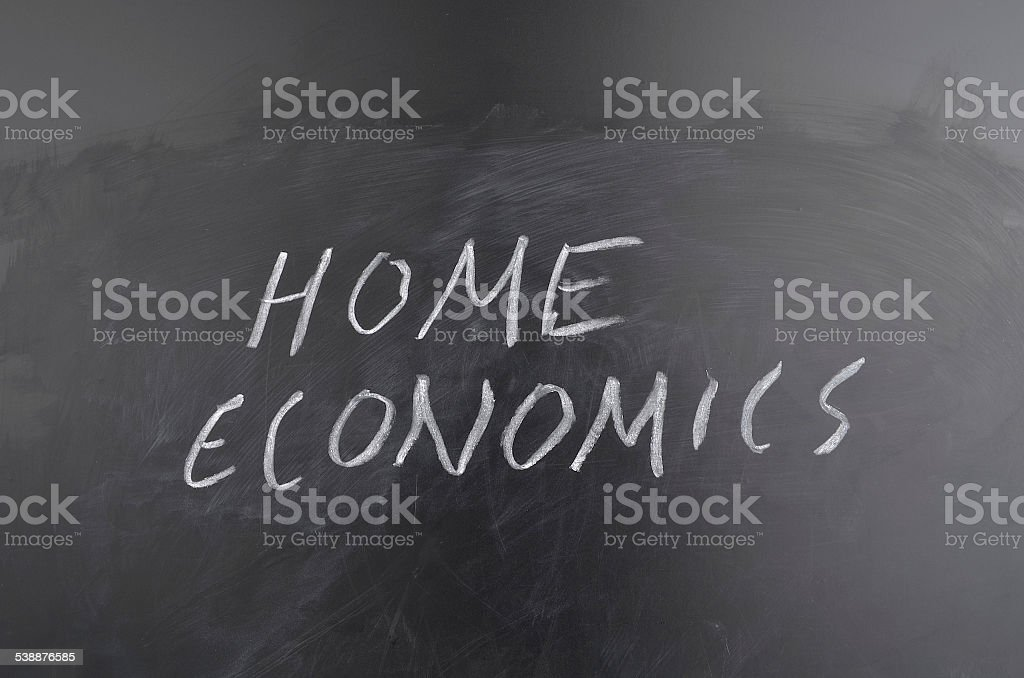 Home Ec Lesson stock photo