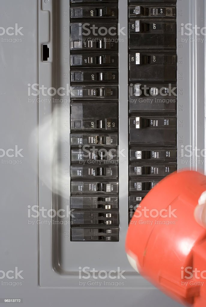 Home electricity power outage stock photo