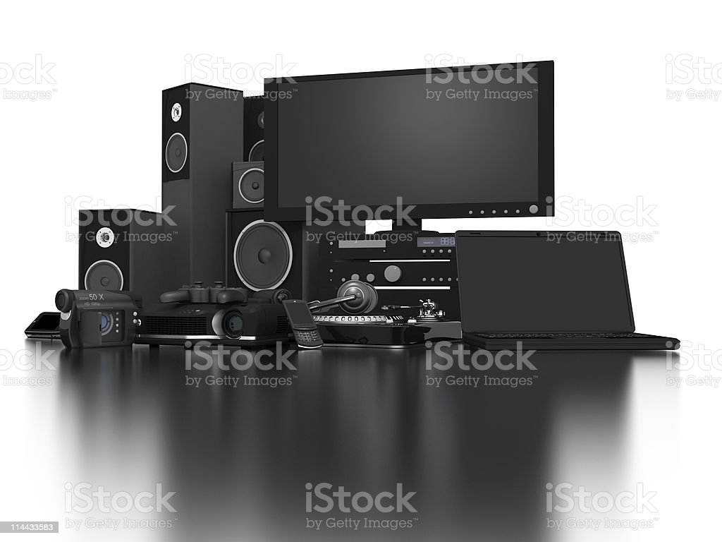 Home Electronics royalty-free stock photo