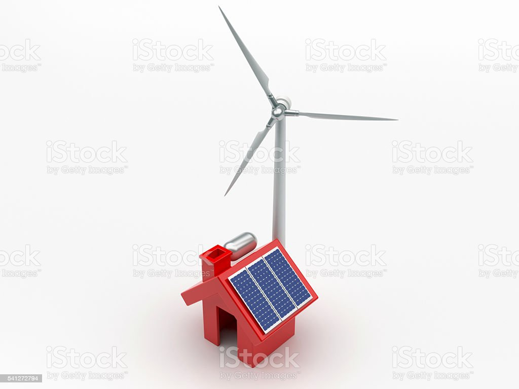 Home Energy Systems stock photo