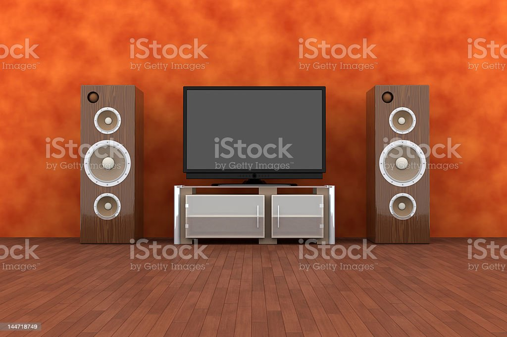 Home Entertainment System royalty-free stock vector art