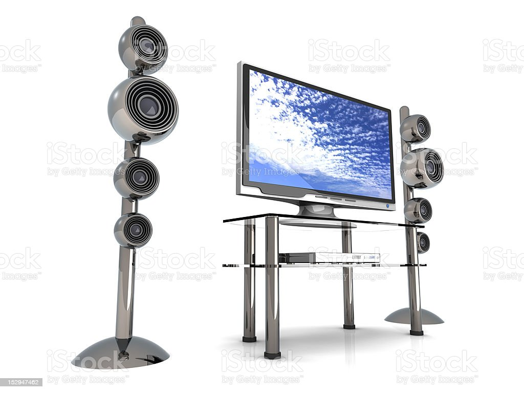 Home Entertainment System royalty-free stock photo