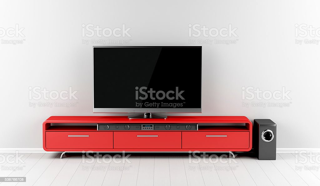 Home entertainment system stock photo