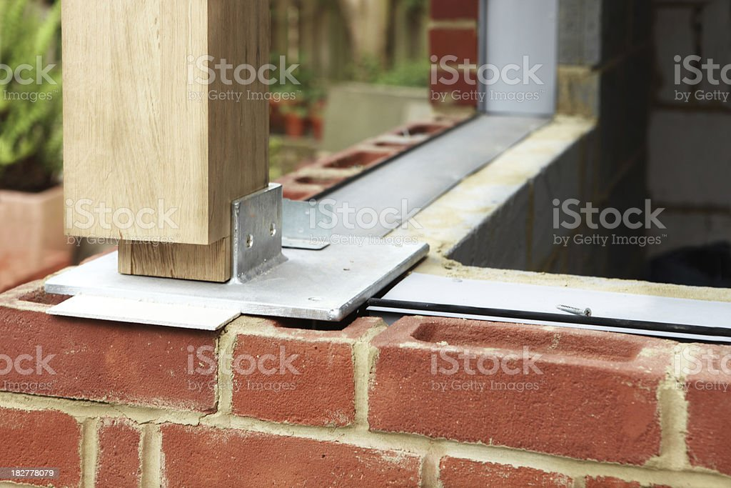 Home Extension Construction stock photo