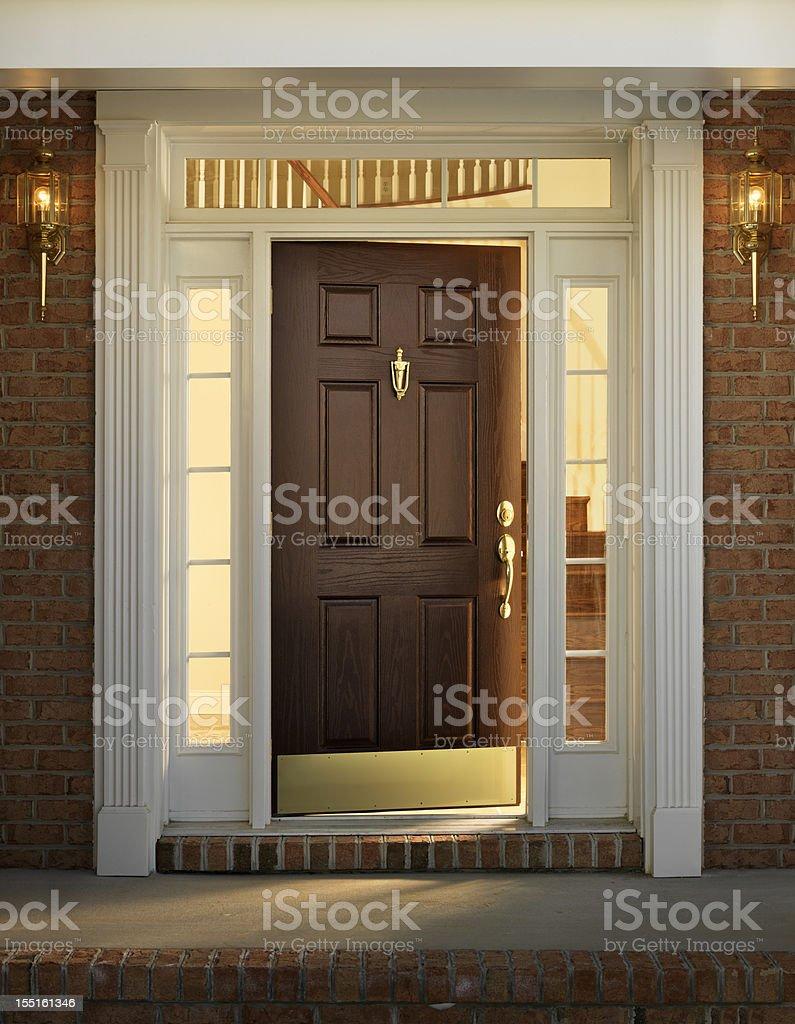 Home Exterior, Front Door stock photo