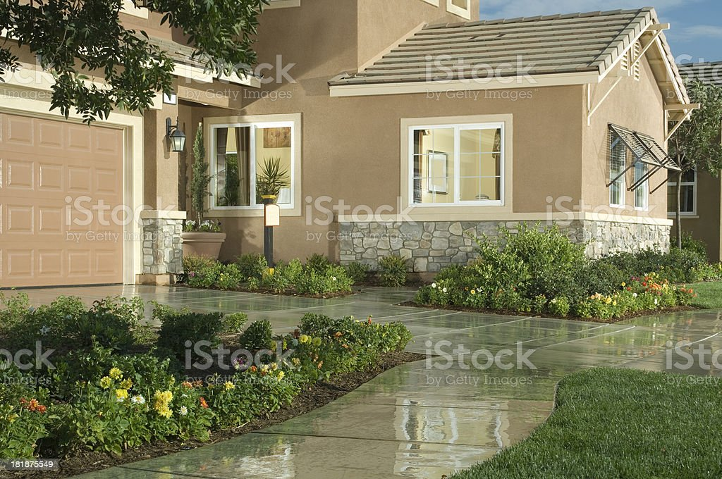 Home Exterior House Design Architecture royalty-free stock photo