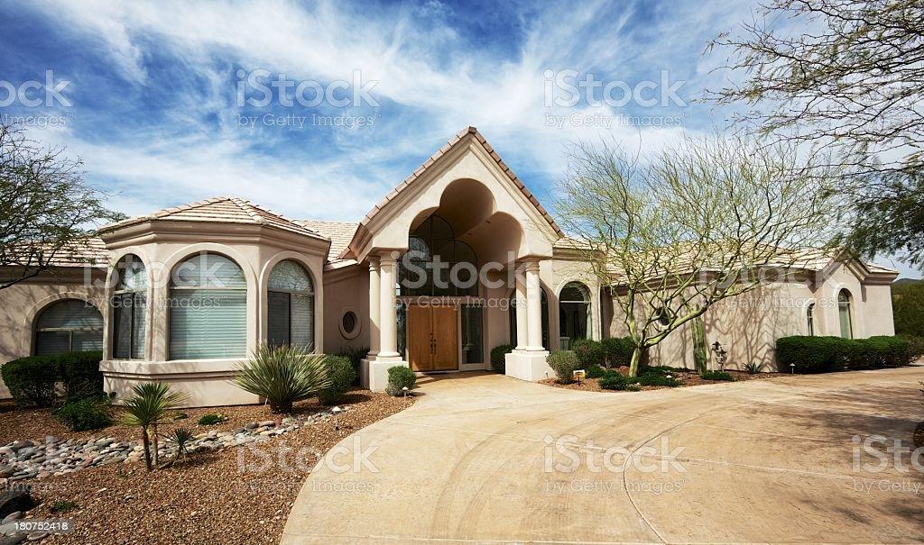 Home exterior royalty-free stock photo