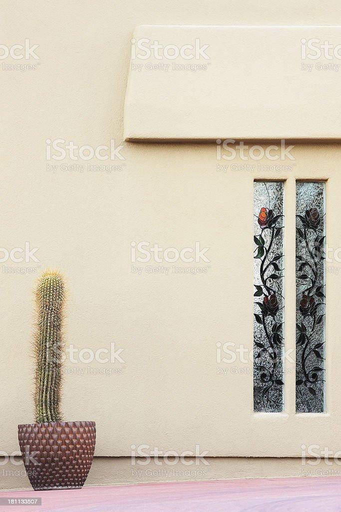 Home Facade Forecourt Patio Decor royalty-free stock photo
