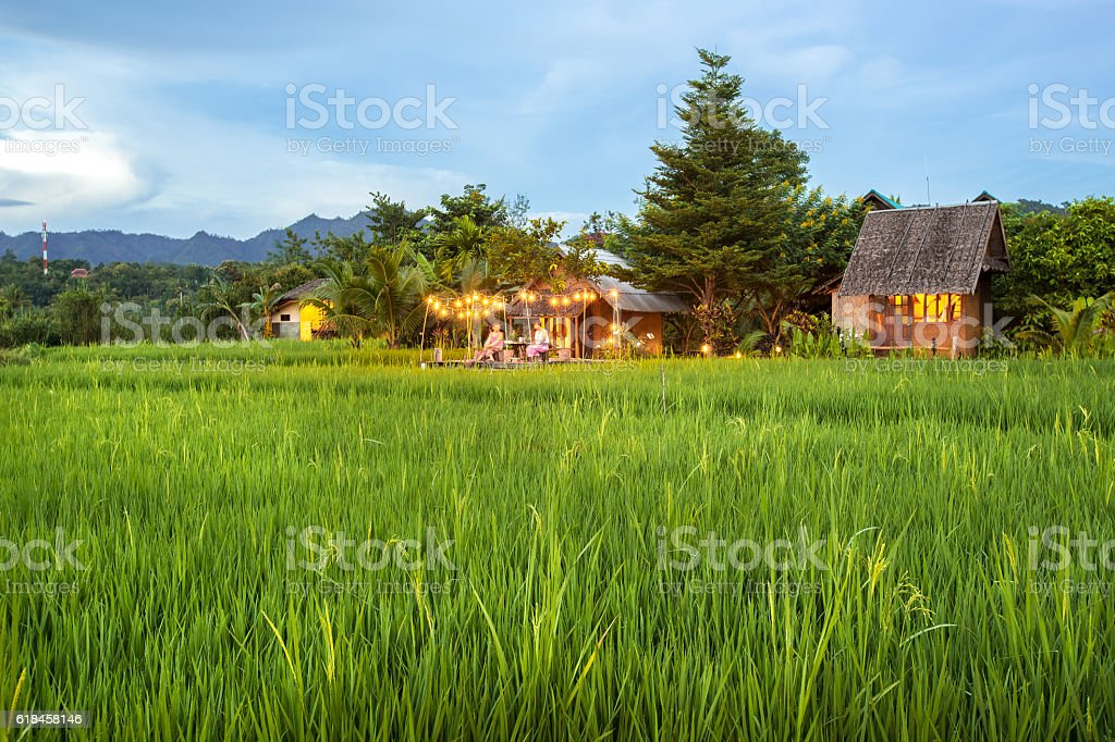 Home Field at Mea La Noi City stock photo